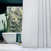 Aimjerry Weiße Abwaschbare Stoff Duschvorhang Schimmel Resistente Für Bad, Wasserdicht 180 x 180 cm