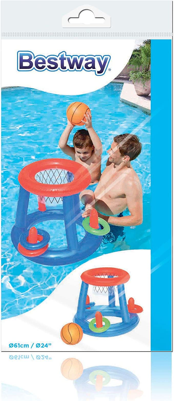 Bestway 52190 - Canasta Hinchable Baloncesto Game Center Ø61 cm: Amazon.es: Juguetes y juegos