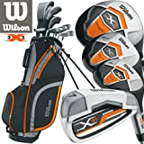Wilson Mens X31 Golf Set NEW FOR 2017 Graphite Shafted Irons & Graphite Shafted Woods FREE Umbrella & Society Tee Pack worh £24.00