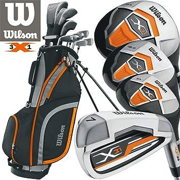 Wilson X31 juego de Golf para hombre para 2017 grafito hierros y grafito libre Paraguas y sociedad Tee Pack WORH £ 24.00