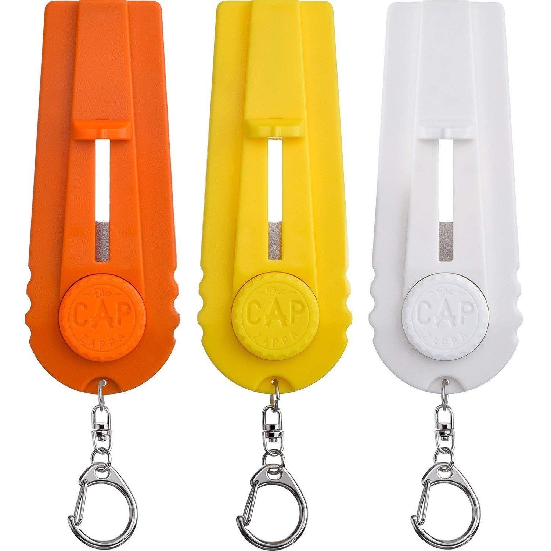 Aboat D/écapsuleur lanceur de capsules avec porte-cl/és 3/pi/èces Jaune et Blanc Orange