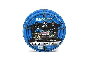 """BluBird AG-Lite Rubber Hot & Cold Water Rubber Garden Hose: Ultra-Light & Super Strong(3/4"""" x 25')- BSAL3425"""