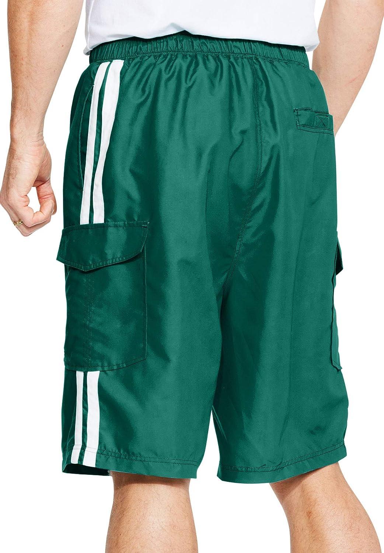 KingSize Mens Big /& Tall Double Stripe Board Shorts