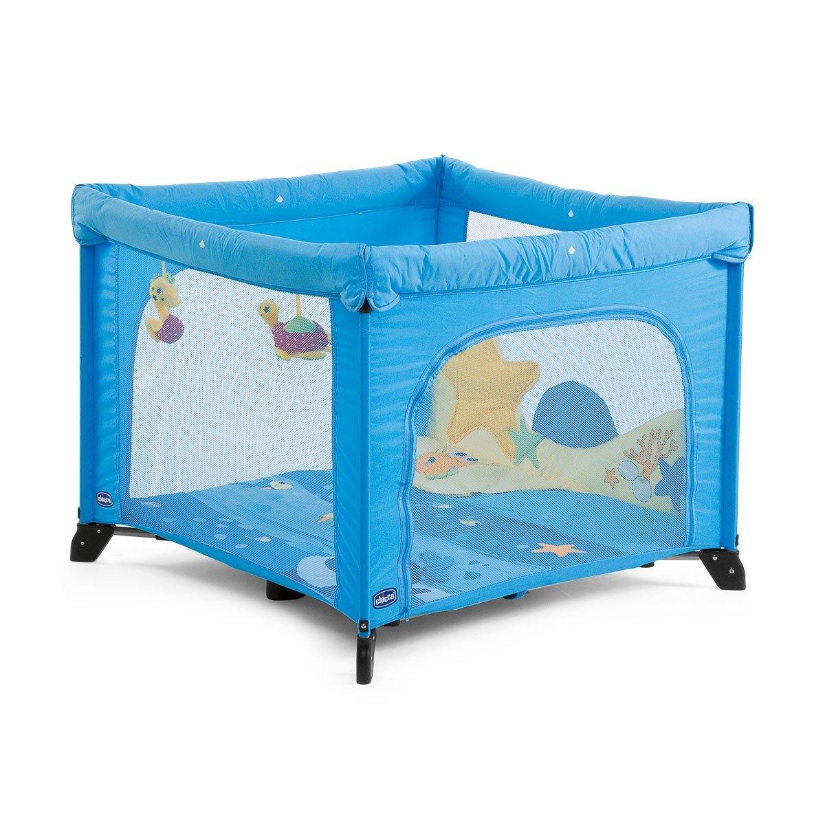Chicco Open Sea Dreams - Parque de juegos infantil con muñecos, 0-4 años, color azul