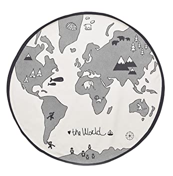 amazon com comfysail baby kids world map playmat round canvas