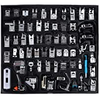Presser Feet, 62PCS Household Multifunctional Sewing Machine Parts Press Foot Sew Machine Accessories Kit Set for Singer, Brother and Other Househeld Sewing Machines