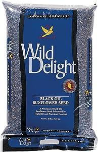 Wild Delight Premium Grade Black Oil Sunflowers (20 lb. Bag)