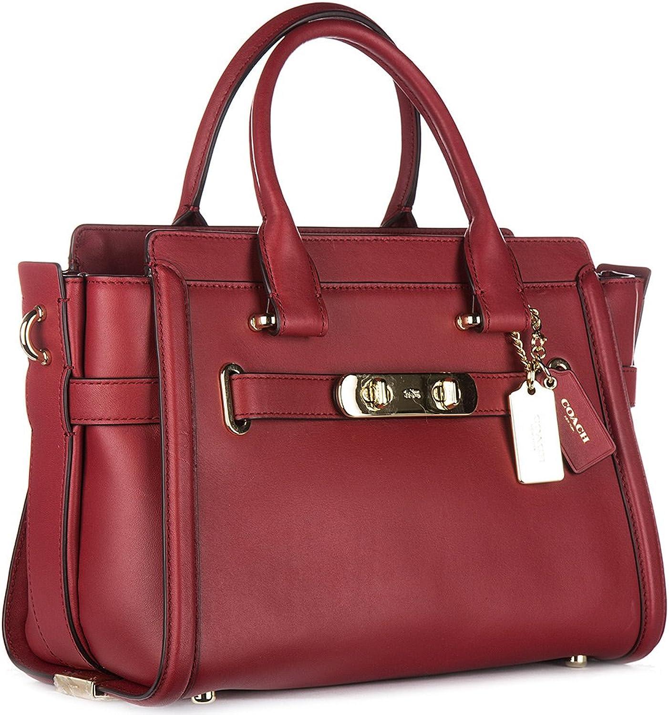 Coach sac à main femme en cuir swagger rouge: Amazon.fr ...