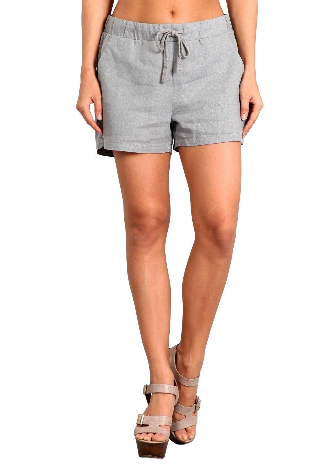 Celebrity Pink Women's High Rise Linen Shorts Small Griffin CJ31097GX