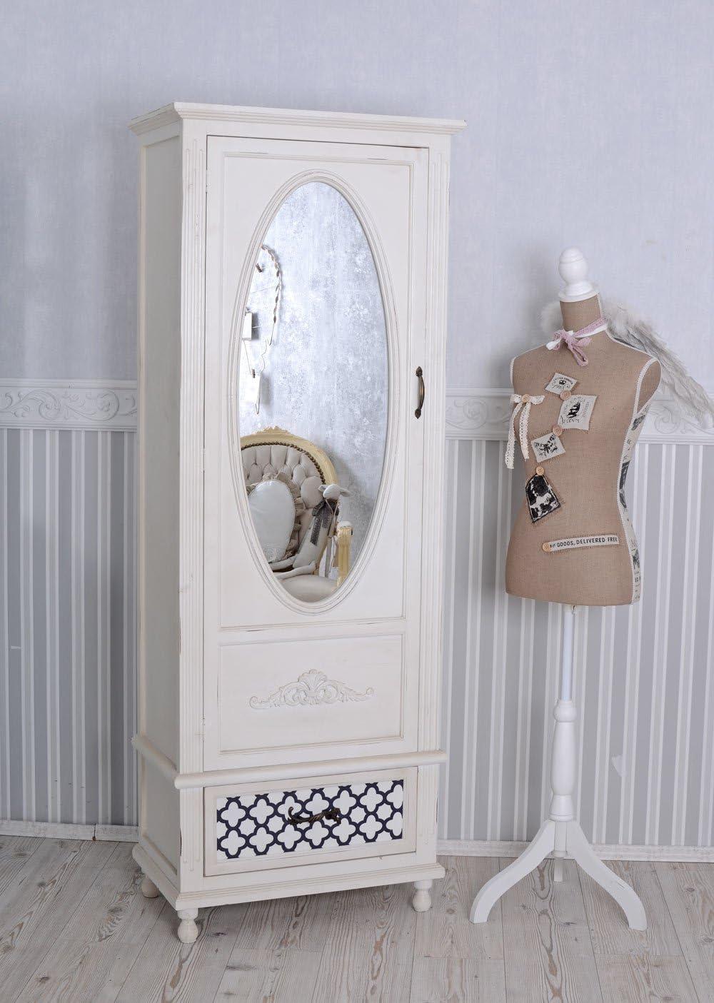 Vintage Schrank Shabby Chic Kleiderschrank Weiss Wascheschrank