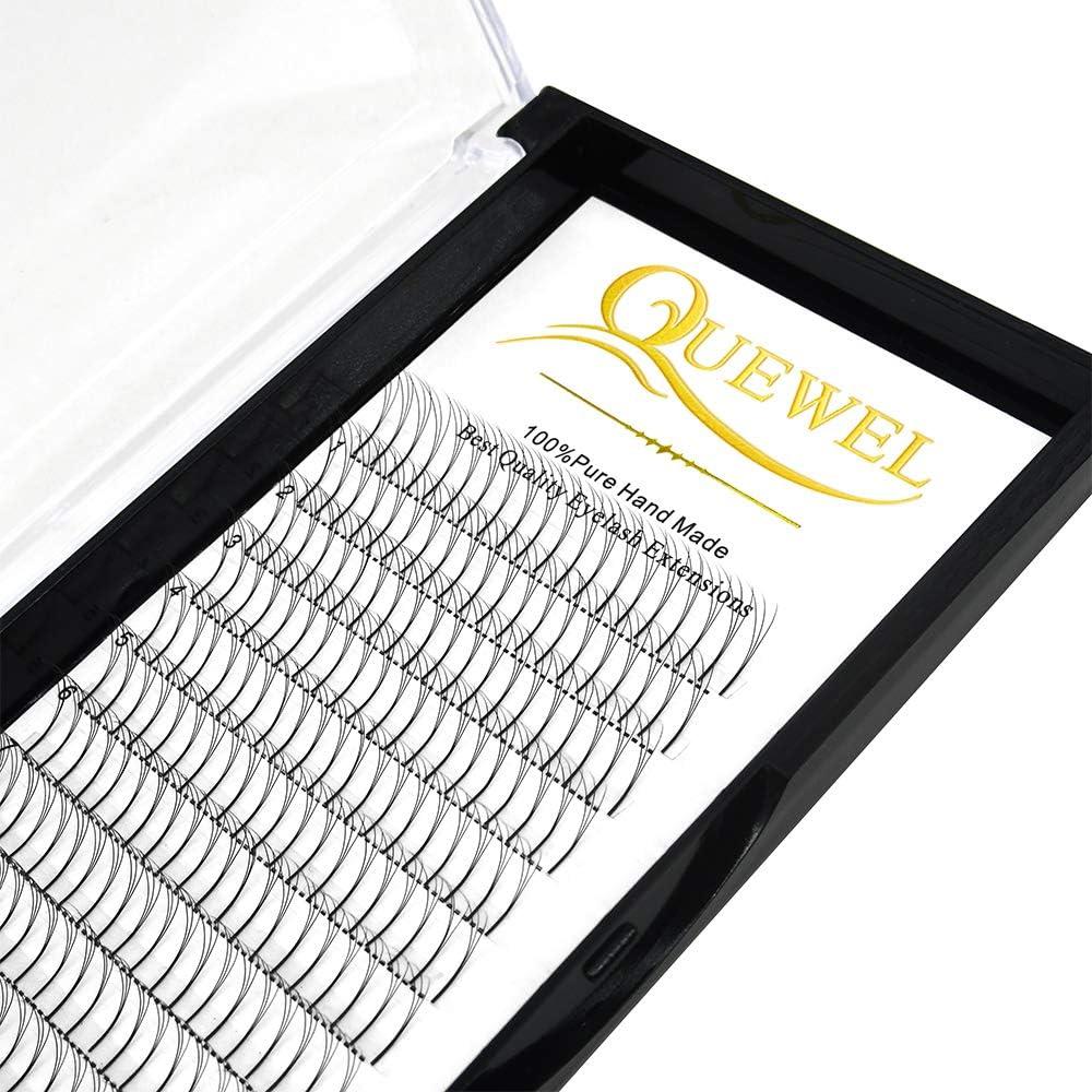 Volumen Extensiones de pestañas Espesor 3D 0.10 D Longitud de rizo 10 mm Ventiladores prefabricados Lash Long Stem Cluster Lashes para salón