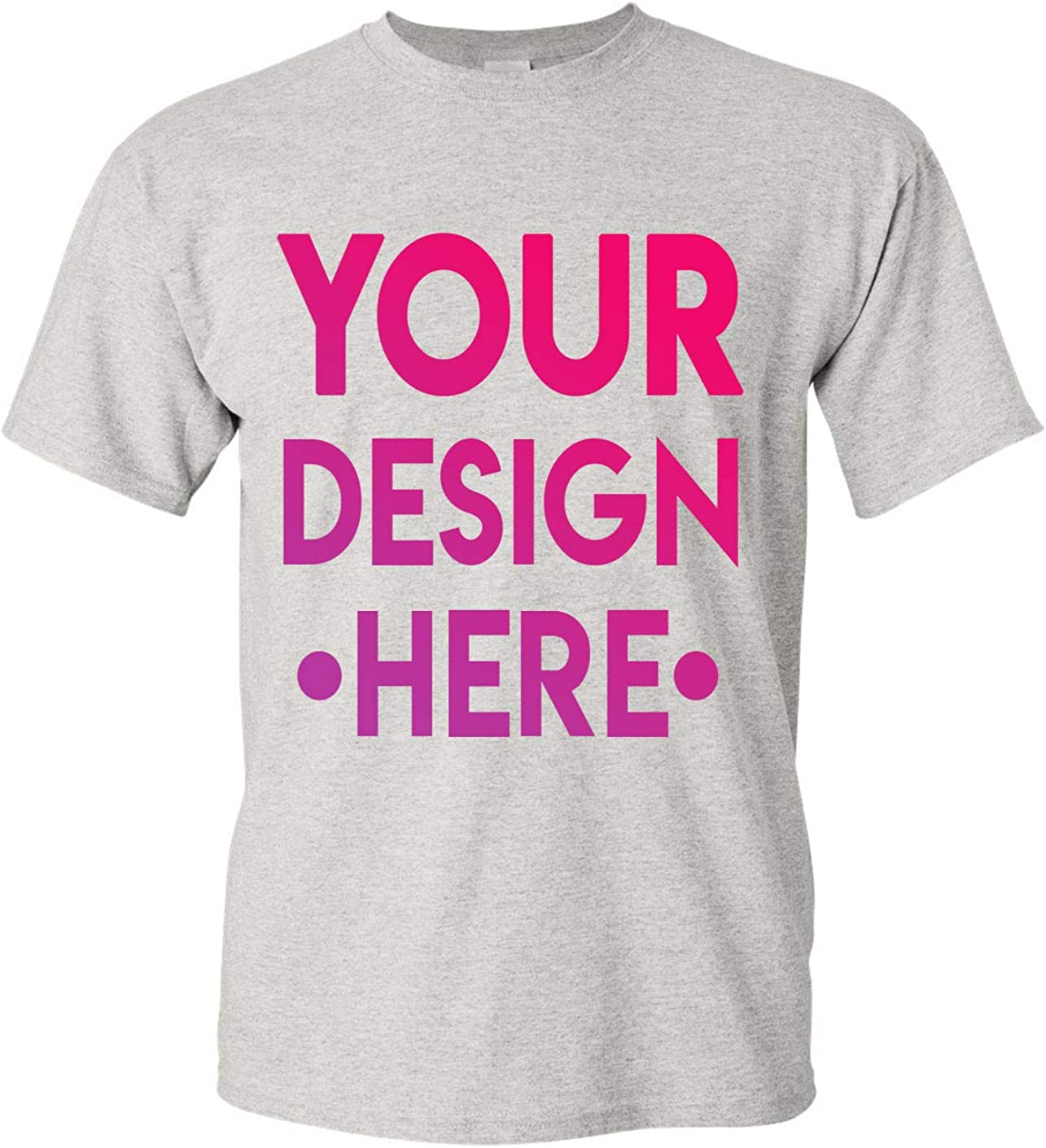 Amazon Com Design Your Own Shirt Customized T Shirt Add Your Picture Photo Text Print Clothing