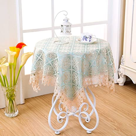 Great Small Table Tablecloth Bedside Table Cover Coffee Table Pastoral Lace A  60x60cm(24x24inch)