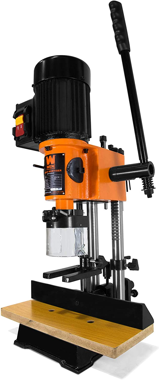 WEN 43012 5-Amp Cast Iron Bench Mortiser with Chisel Bit Set