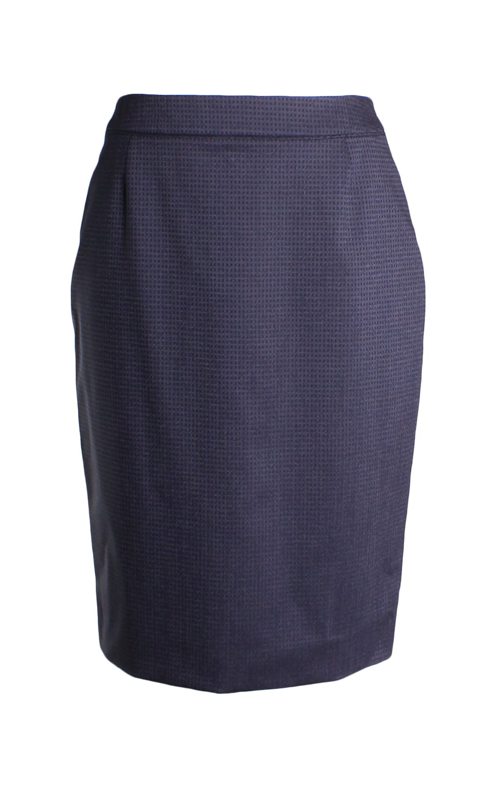 Hugo Boss Vakulea Virgin Wool Pencil Skirt In Pindot Size 4