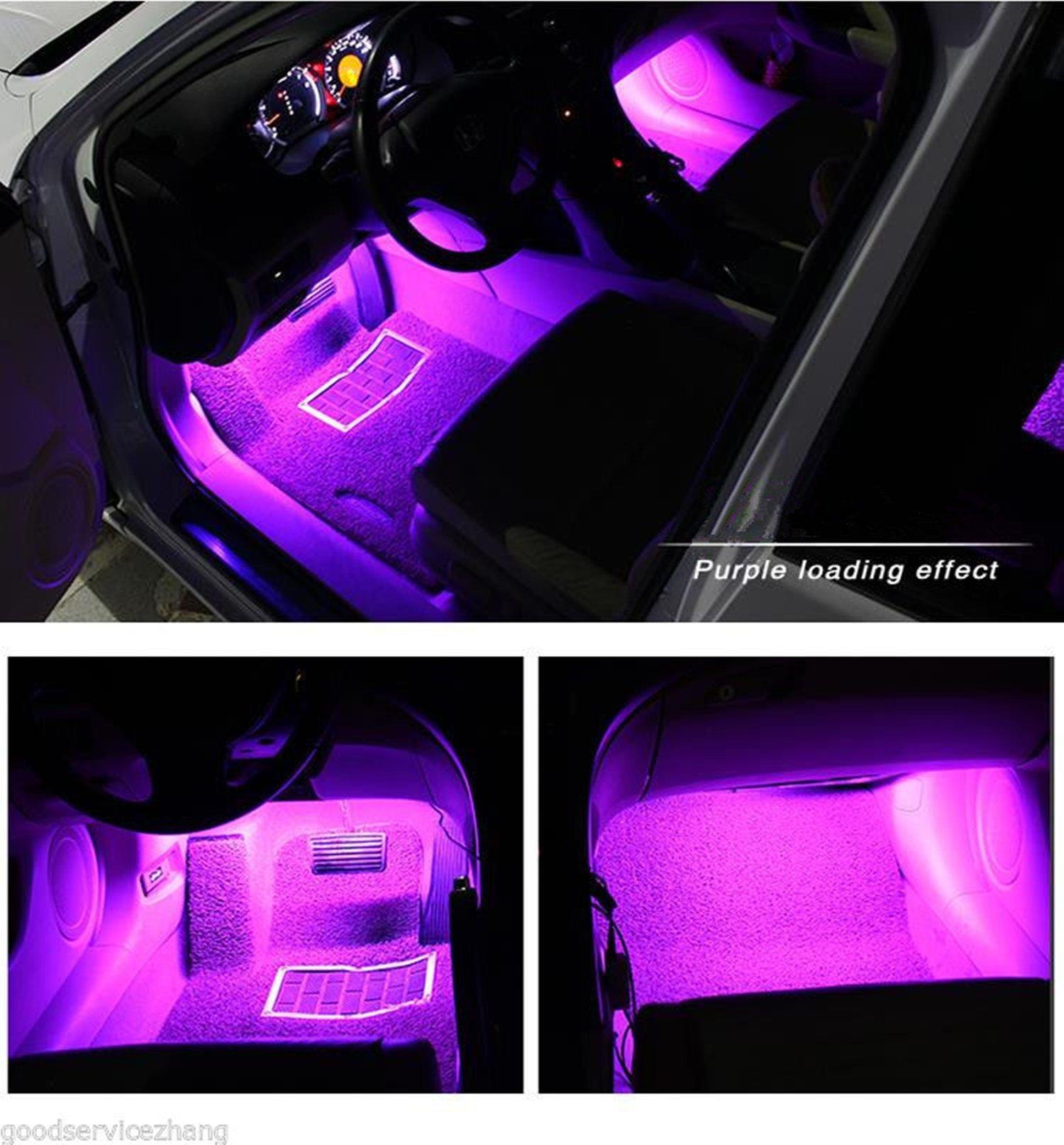 Car led strip light ej 39 s super car 4pcs 36 led car - Automotive interior led light strips ...