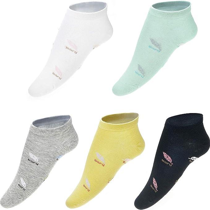 Gomerbesen 5 pares de calcetines de algodón para mujer 5 pares de hojas. Talla única: Amazon.es: Ropa y accesorios