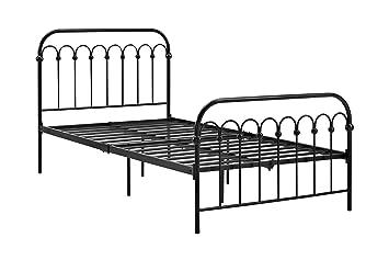 novogratz bright pop twin metal bed black - Twin Iron Bed Frame