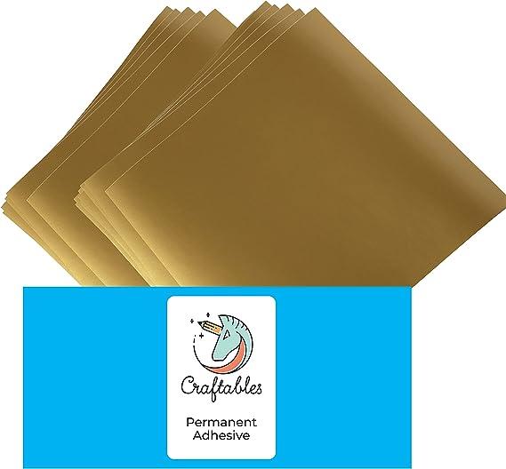 """environ 3.05 m Teckwrap adhésif permanent vinyle 12/"""" x 10 ft Glossy Gold"""