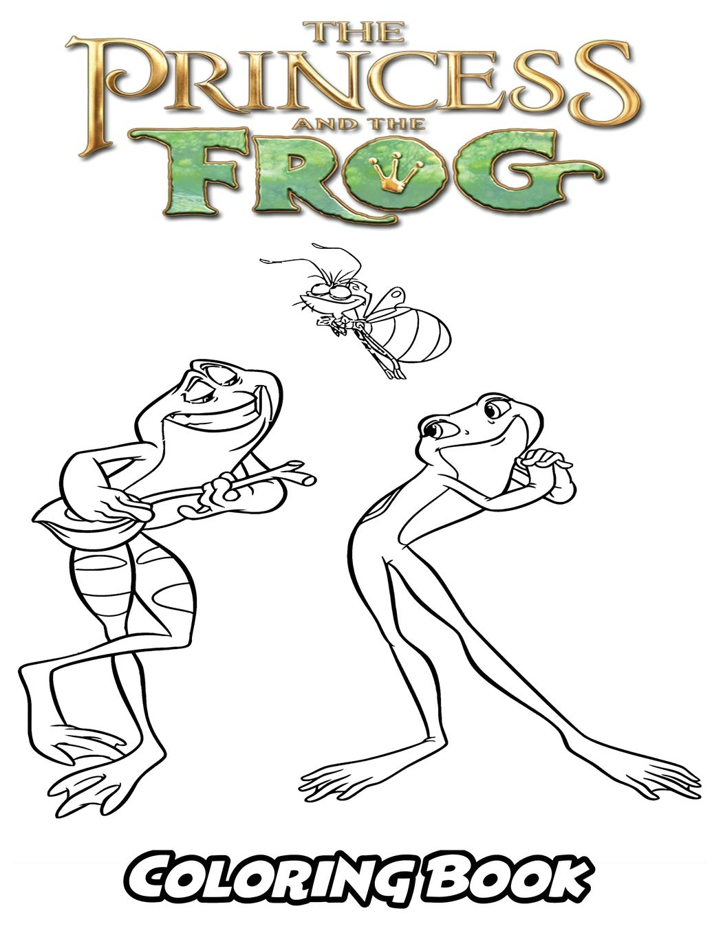 Amazon Com Princess And The Frog Coloring Book Coloring