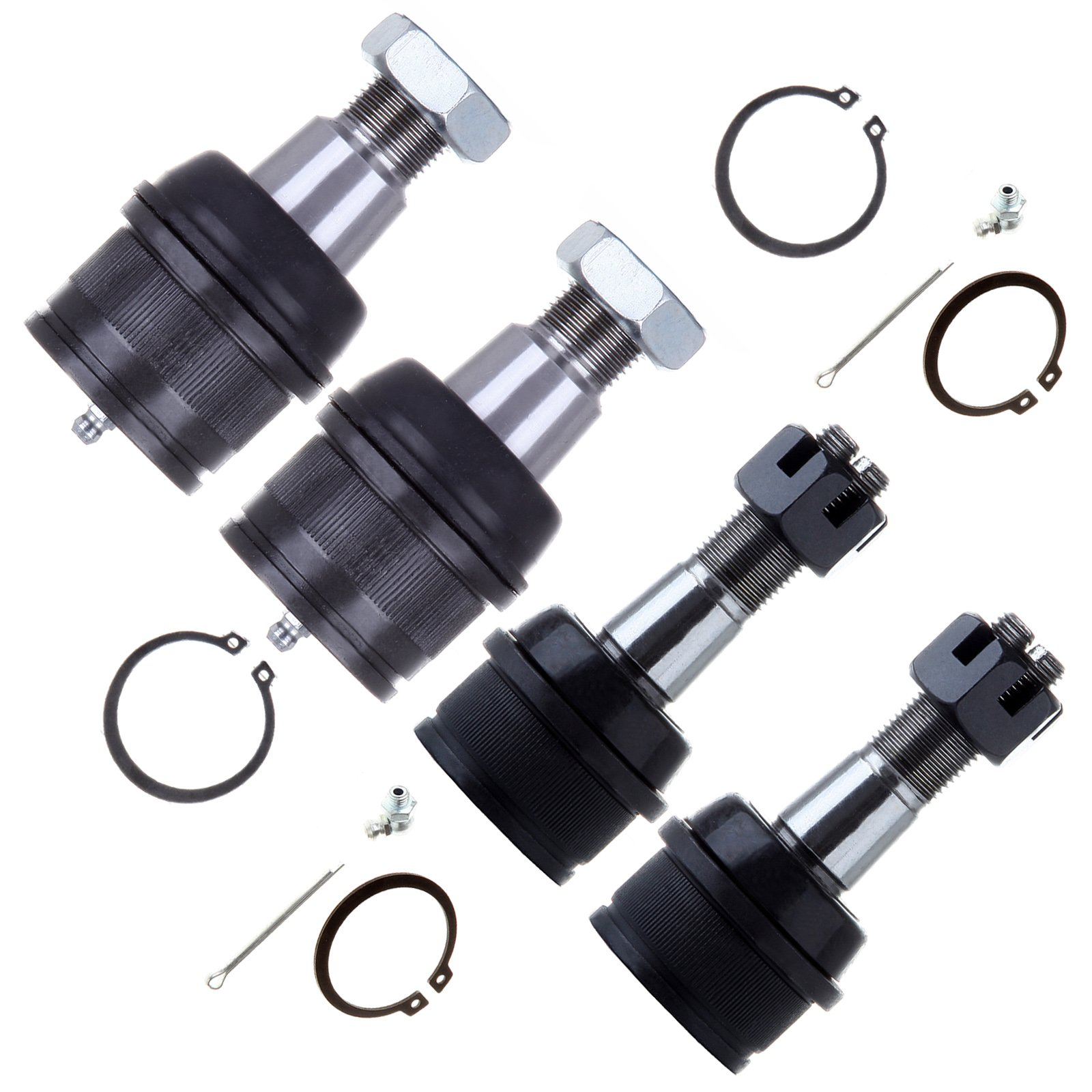 ECCPP Front Lower Upper Ball Joint Steering Kit for 1999 Dodge Ram 2500/3500 Ford F-250 Qty(4)