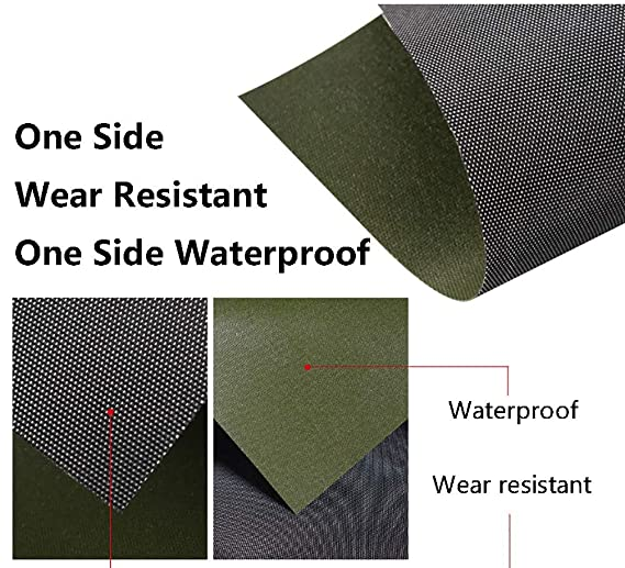 Tarpaulin Heavy-Duty Waterproof Canvas Tarps Cover for Car Boat//Camping//Ground Sheet Cover Black 27mil // 19 Oz Size : 2x1.5m