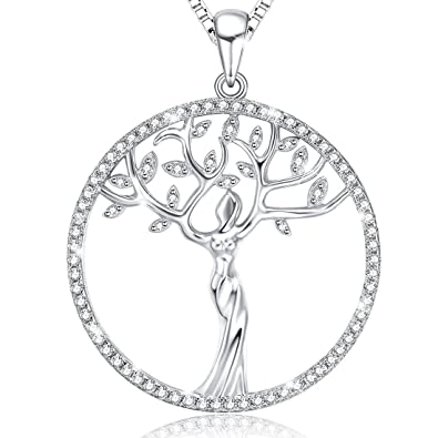 Amazon ado glo mothers day gifts family tree of life ado glo mothers day gifts family tree of life pendant necklace fashion aloadofball Image collections