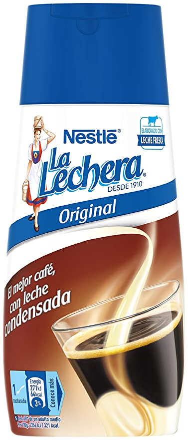 Nestlé La Lechera Leche condensada, Botella sirve fácil - 450 gr ...