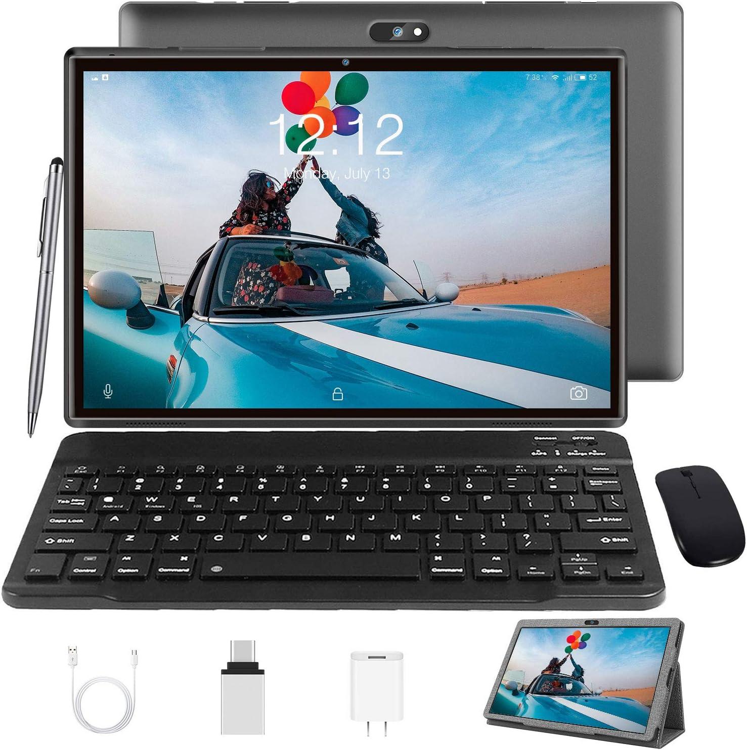 Tablet 10 Zoll Android 10 Tablet Pc Mit Tastatur 4g Lte Computer Zubehör