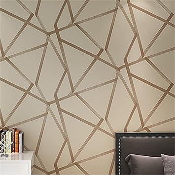 Metallic Blue moderne geometrische tapete für schlafzimmer dekor ...