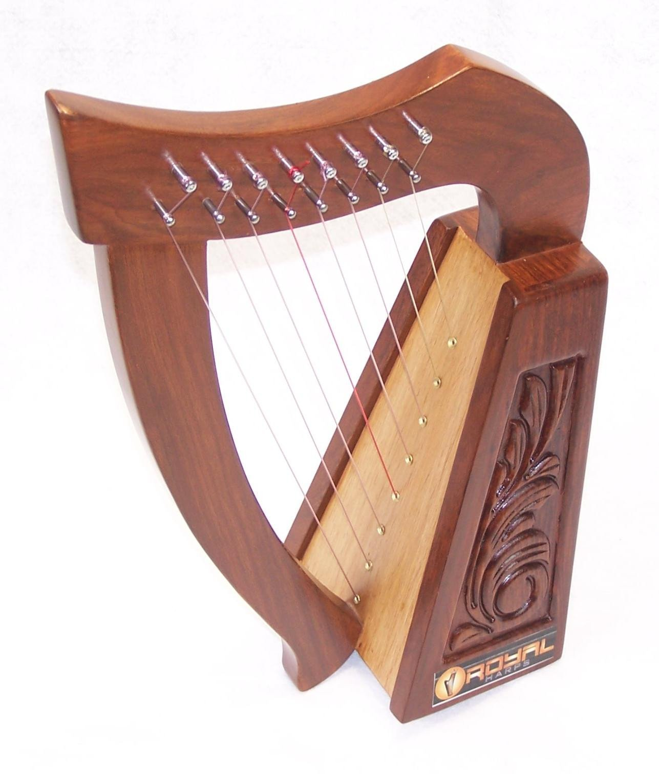 19 Inch Tall Celtic Irish Rose Harp 8 Strings Solid Wood Great for Children New