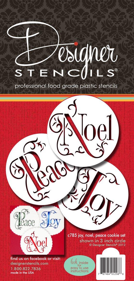 Joy, Noel and Peace Cookie Set by Designer Stencils C785