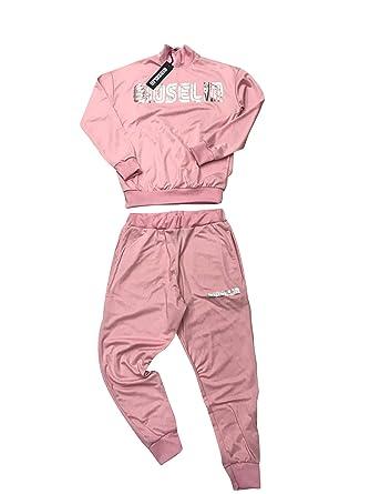 Gioselin - Chándal de Cuello Alto para Mujer Rosa XL: Amazon.es ...