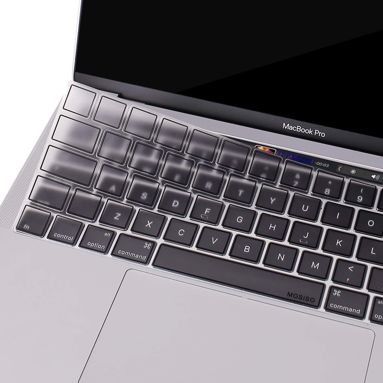 MOSISO Premium Ultra Sottile Tastiera Copertura Protezione della Pelle(EU Layout) Compatibile con MacBook PRO con Touch Bar 13//15 ,TPU Menta Verde 2018//2017//2016 Rilascio,A1989//A1990//A1706//A1707