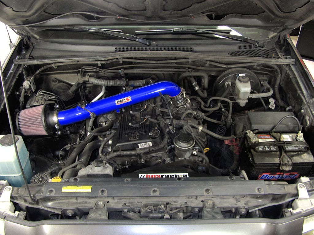 HPS 27-169BL Blue Short Ram Air Intake Kit with Heat Shield (Non-CARB Compliant) by HPS Performance