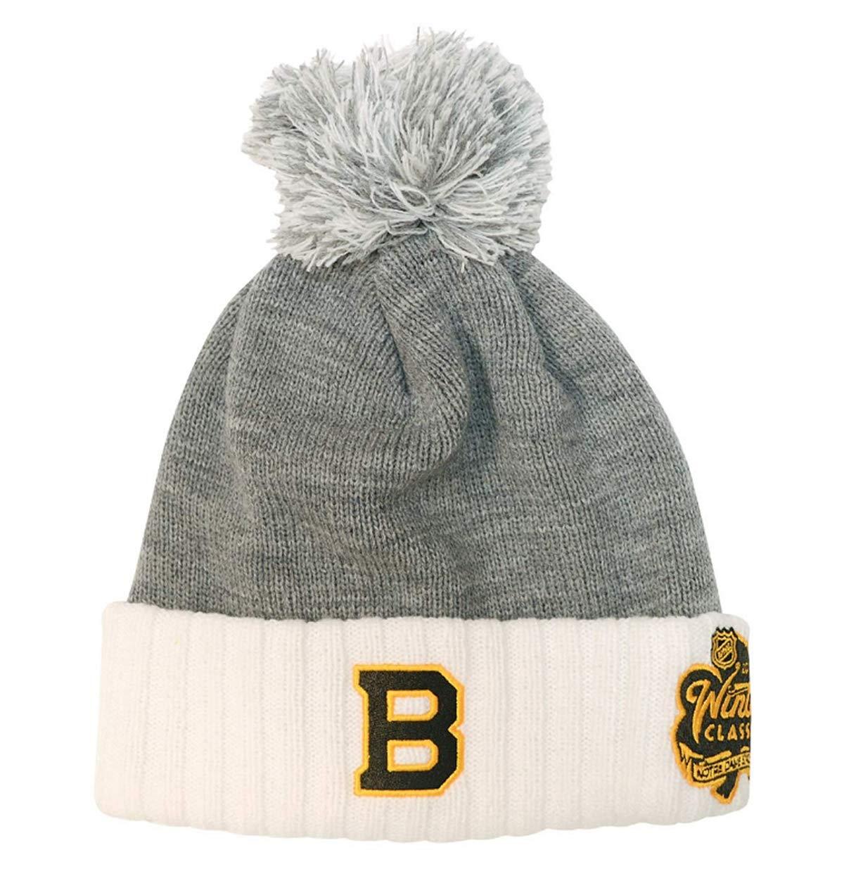 Amazon.com   adidas Boston Bruins 2019 Winter Classic Cuffed Pom Knit Hat  ...   Sports   Outdoors 72fbd2c2695