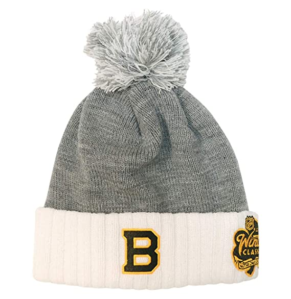 Adidas Boston Bruins 2019 Winter Classic Cuffed Pom Knit Hat … by Adidas