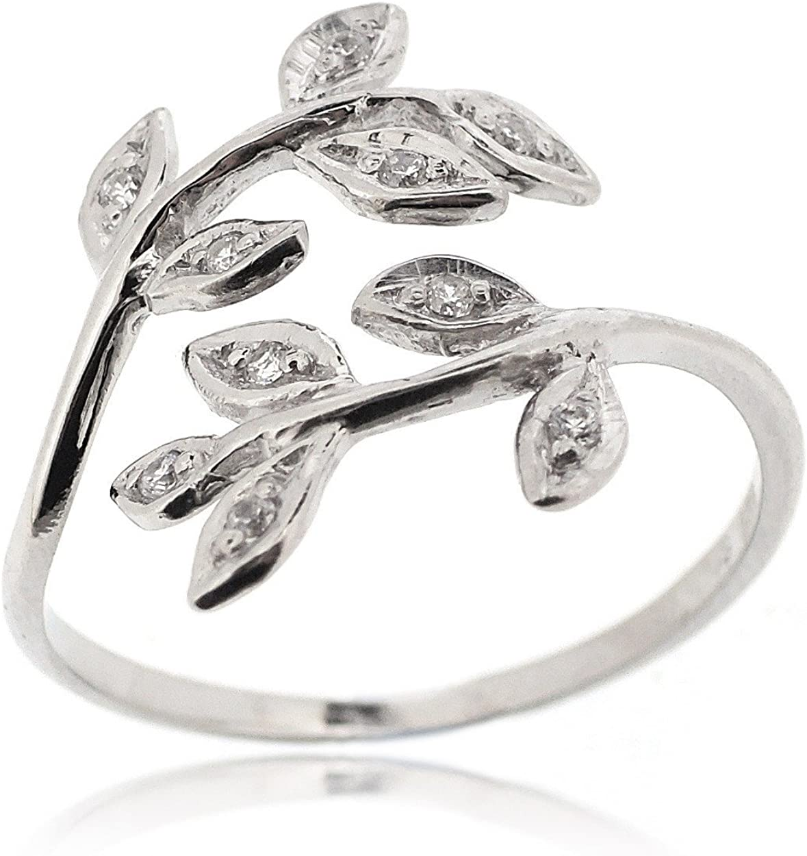 Stylish /&Trendy Nickel Free Ring Sovats Triangle Ring for Women Set with White Cubic Zirconia 925 Sterling Silver Rhodium Plated Simple