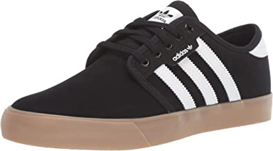 adidas mens Seeley Sneaker, Black/White/Gum, 10.5 US