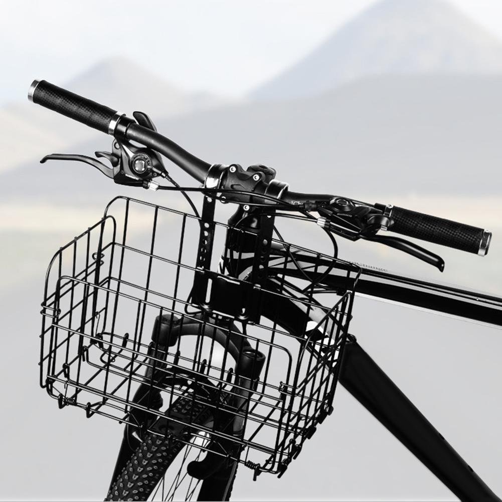 Futurepast Fahrradkorb Vorne, Lenkerkorb Korb mit Klappbar Drahtgitter, Korb für Ein Fahrrad, Hält, Dauerhaft, Vorderradkorb für Fahrrad by (33 * 20 * 22cm) Korb für Ein Fahrrad Hält
