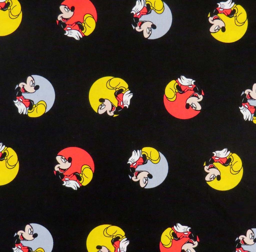 SheetWorld Fitted Pack N Play Sheet 29.5 x 42 - Mickey Mouse Circles - Made in USA