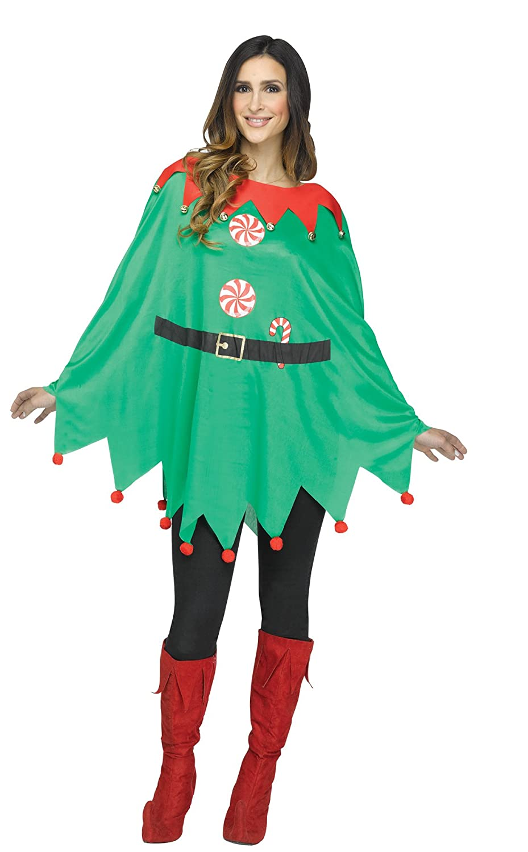 Amazon.com: Ultimate Halloween Costume UHC Women\'s Snowman Poncho ...