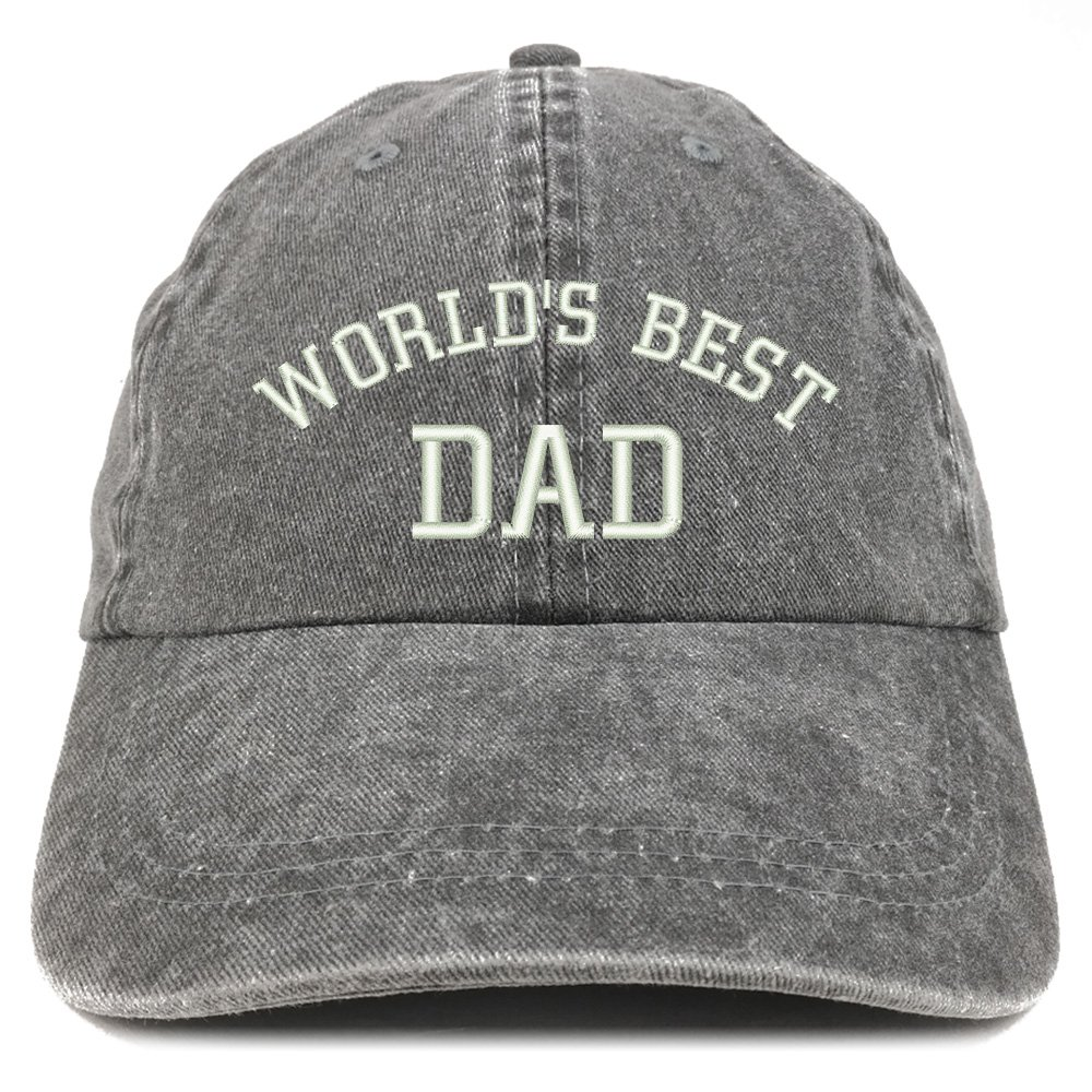 daeb13c5a Self-Fabric Strap with Easy Adjustable Brass Snap Buckle Closure One Size  Fits Most High Quality Embroidered Cap