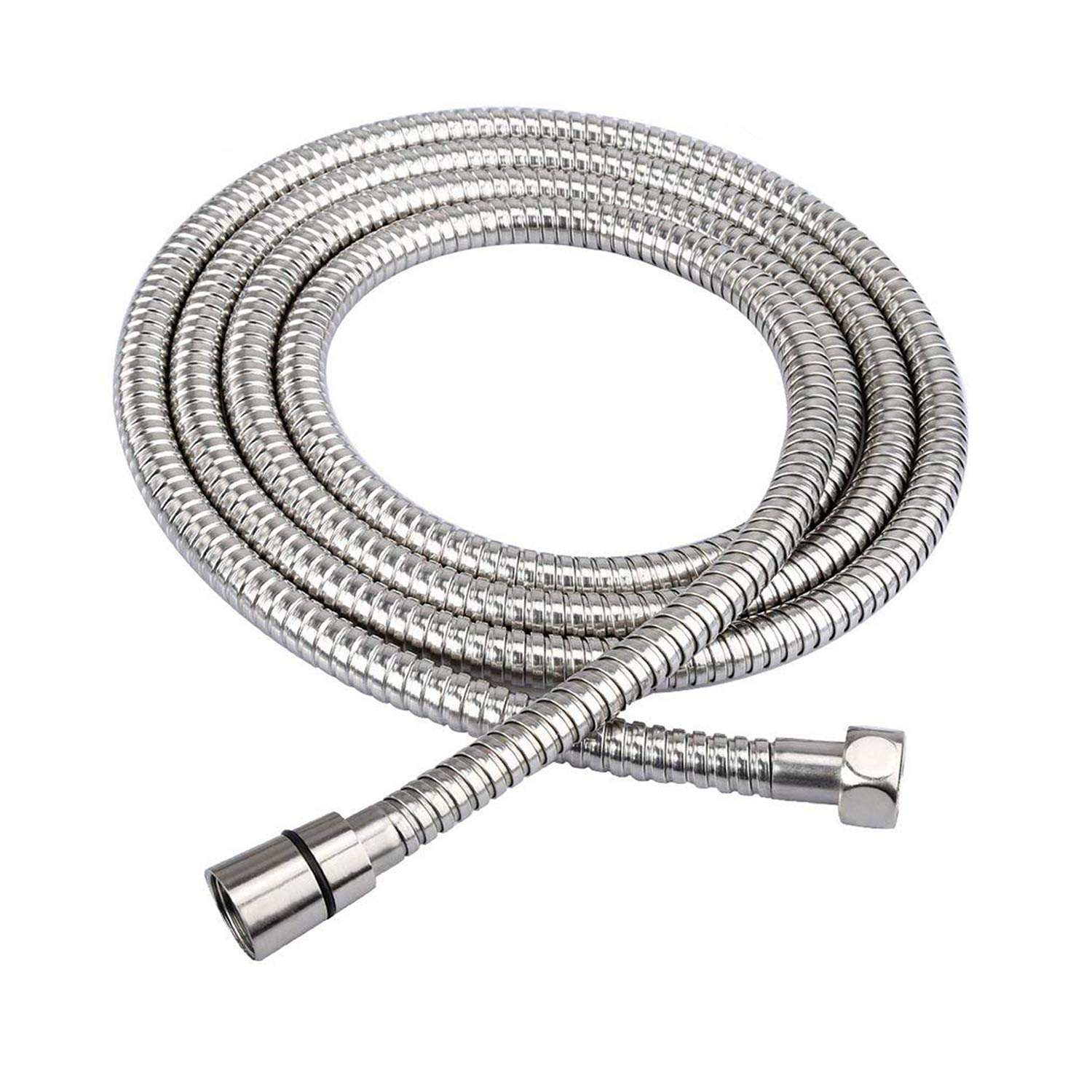 Samodra Shower Hose, 98 Inches Extra Long Stainless Steel Handheld Shower Head Replacement Hose Extension 360 Degree Swivel with Solid Brass Connector