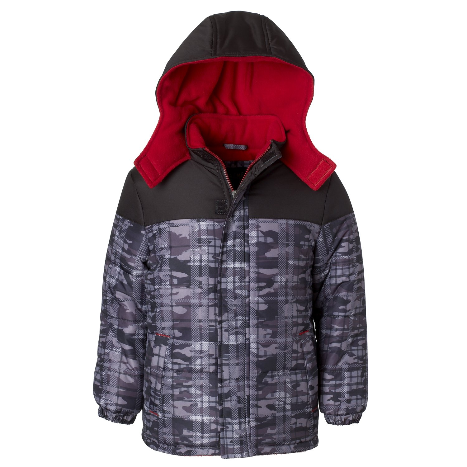 3ee47cbcb iXTREME Puffer Jacket for Boys   Toddlers with Camo Colorblock Print ...