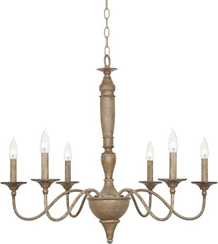Kira Home Montreal 29″ 6-Light French Country Chandelier