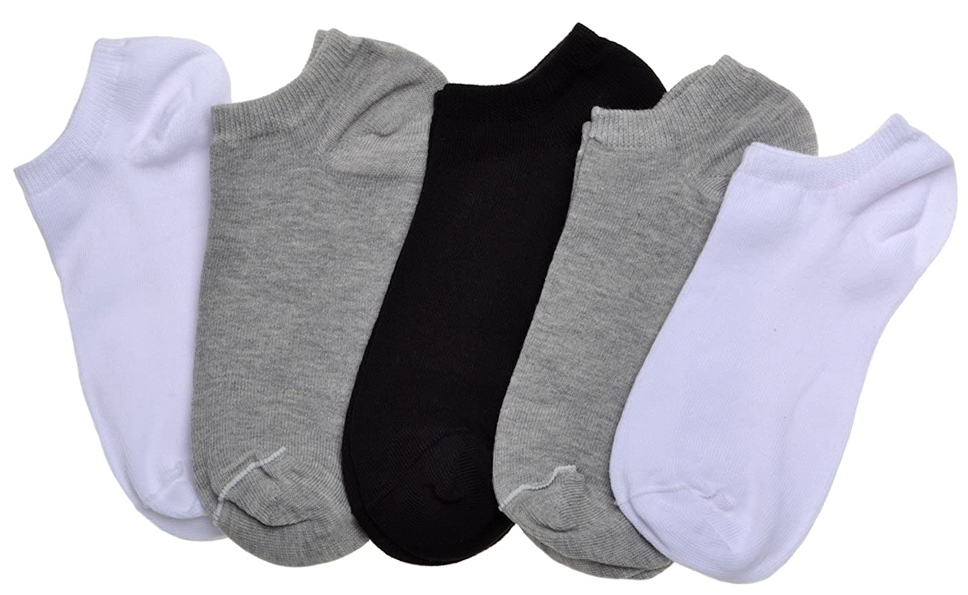 5 pairs of Boys Plain Trainer socks