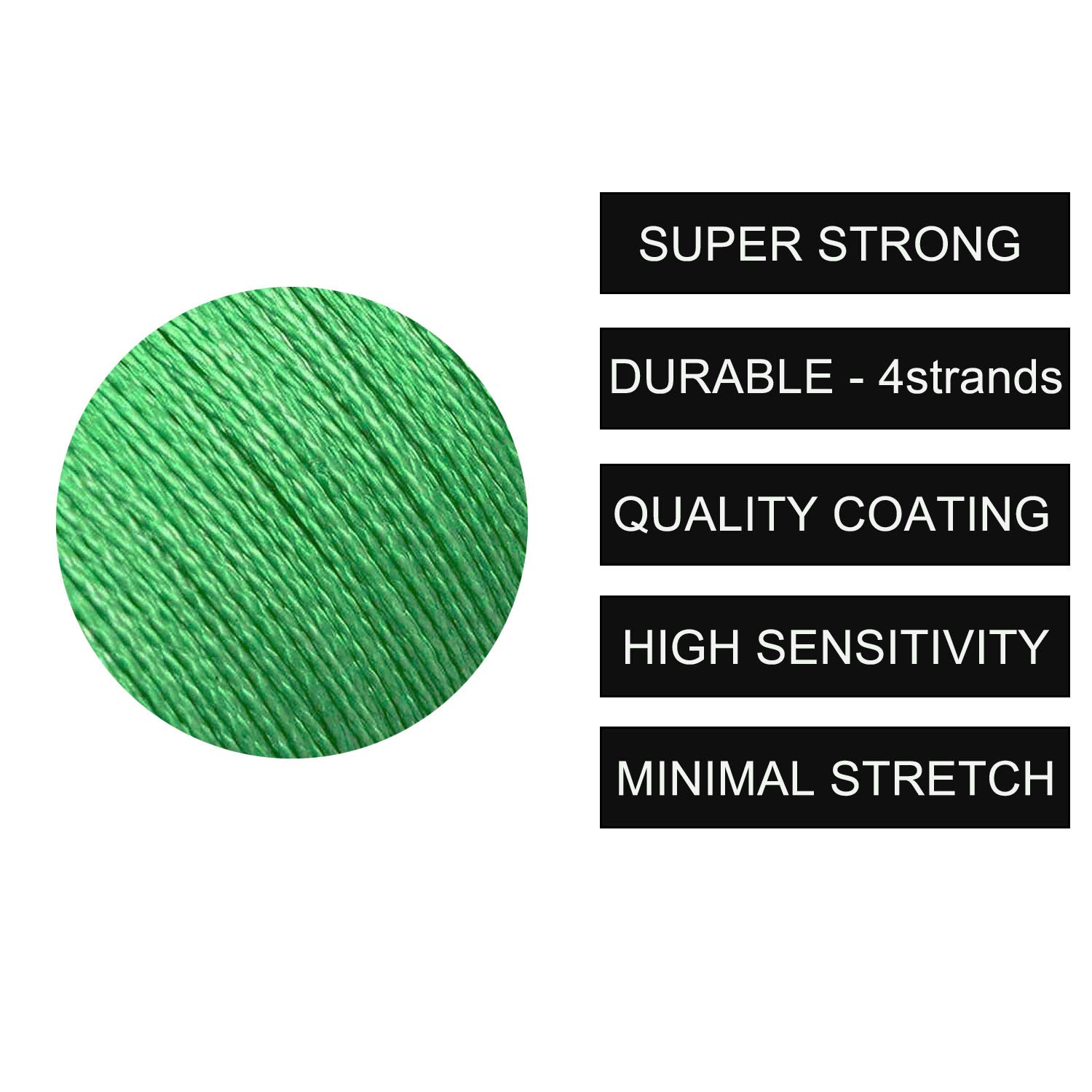 10LB-133LB Strong Abrasion Resistant 4 Strands PE Fishing Line Green//Gray//Colored Braided Lines for Freshwater Saltwater OROOTL Braided Fishing Line