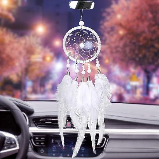 Gold ygmoner Cross Hanging Pendant Car Rearview Mirror Ornament Car Interior Rearview Mirror Dangle Charm