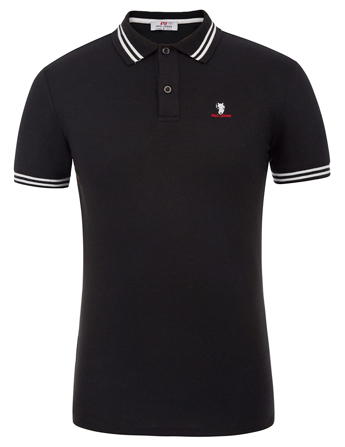 11584bc44fd1 Polo Shirt  Short sleeves  Dog embroidery  Contrast stripe on cuffs and  collar  The shirt has a little stretch. This classic golf polo shirts is  long enough ...